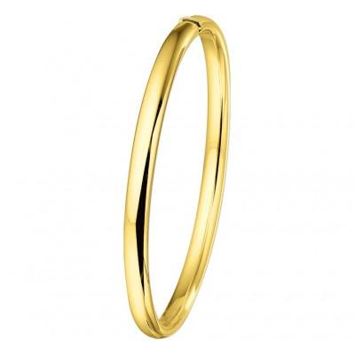 Slavenarmband ovaal van goud 5 mm en 60 mm doorsnede