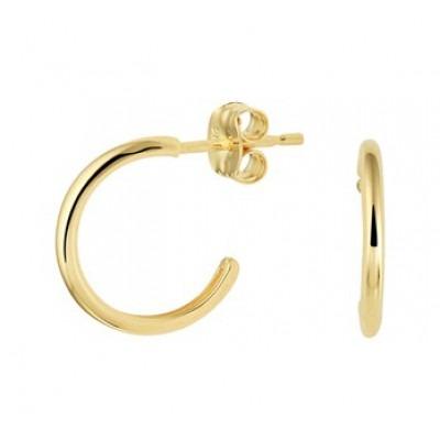 Gouden oorbellen creolen 3 kwart