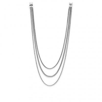 Buddha to Buddha 450Triple Mini Necklace Silver