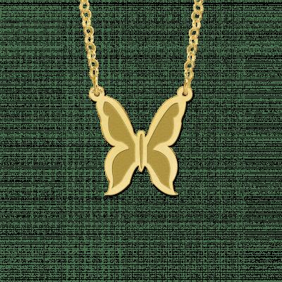 Gouden vlinder hanger inclusief ketting