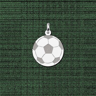 Zilveren voetbal hanger