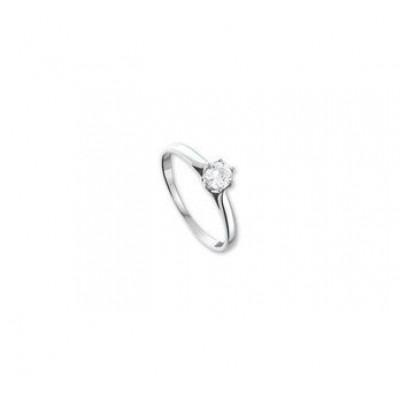 Zilveren ringetje met steen