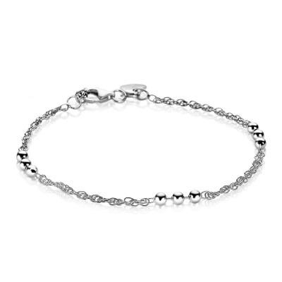 Zinzi zilveren fantasie armband met bolletjes ZIA1422