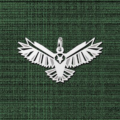 Geometrische hanger van zilver adelaar