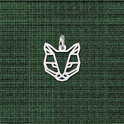 Geometrische hanger van zilver kat