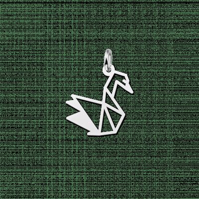 Geometrische hanger van zilver zwaan
