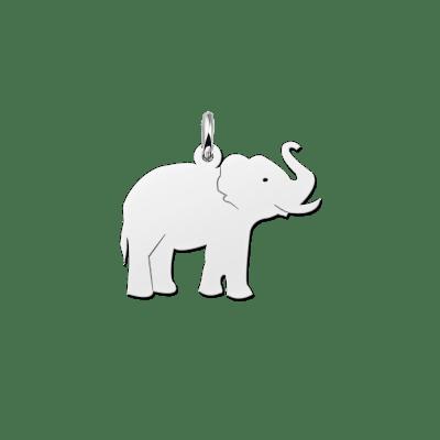 Zilveren olifant hanger