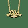Gouden naamketting met hartje en zirkonia