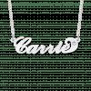 Carrie naamketting zilver met zirkonia