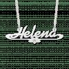 Ketting met naam en zirkonia voorbeeld Helena
