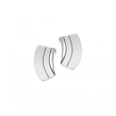 Luxe oorclips van zilver 18 mm hoog