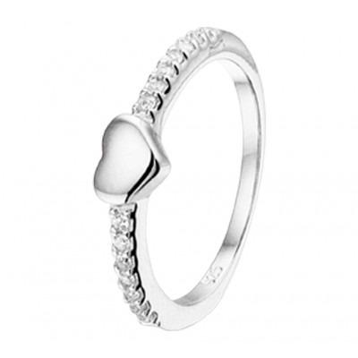 Ring van zilver voor meisjes met liefdethema