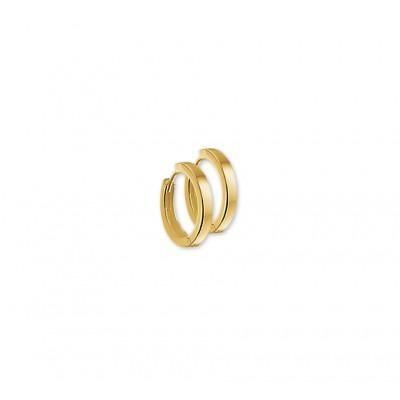 Luxe goudkleurige klapcreolen 2 mm breed