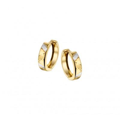 Mooie klapcreolen van luxe goud