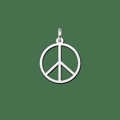 Zilveren peace teken hanger