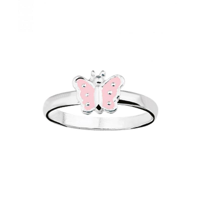 Kinder ring in het zilver met thema dieren 6 mm breed