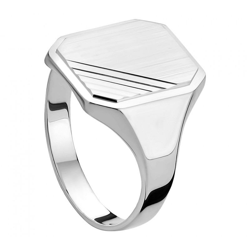 Zegelring zilver gediamanteerd-1