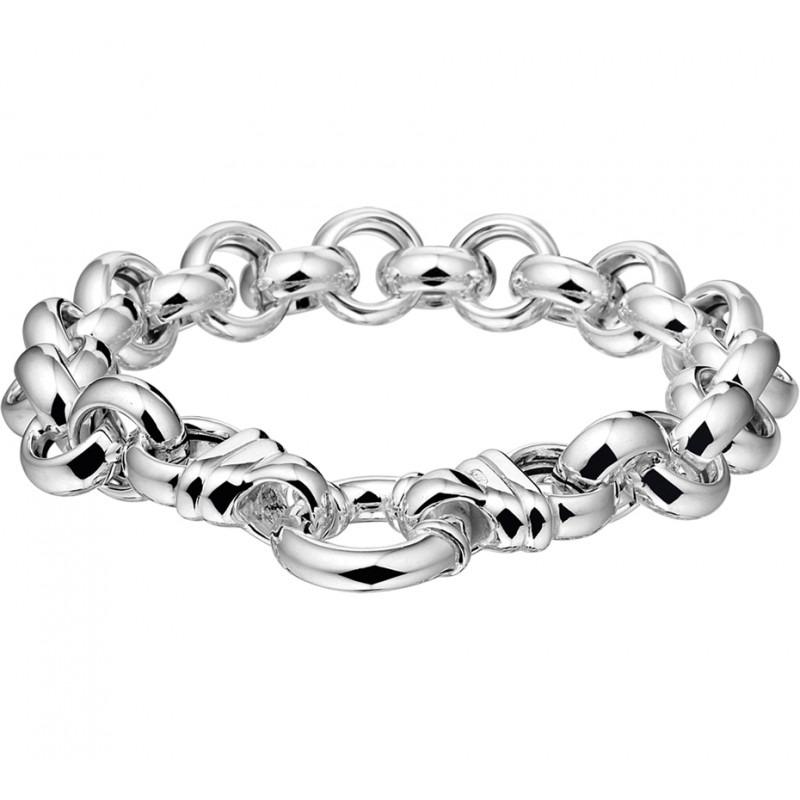 Zilveren grove armband 11mm