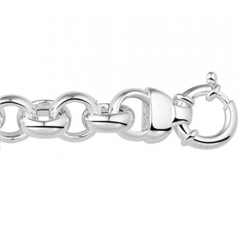 Zilveren jasseron armbanden 13mm