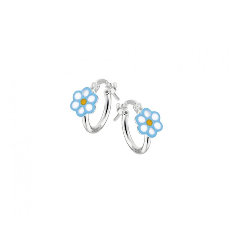 Zilveren kinderoorbellen bloemen