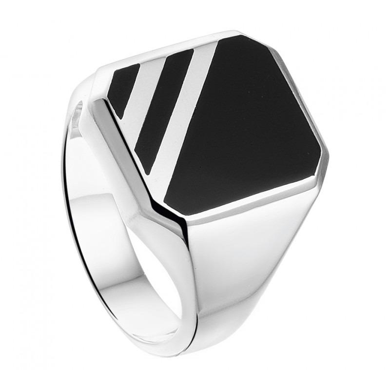 Zilveren zegel ring onyx-1