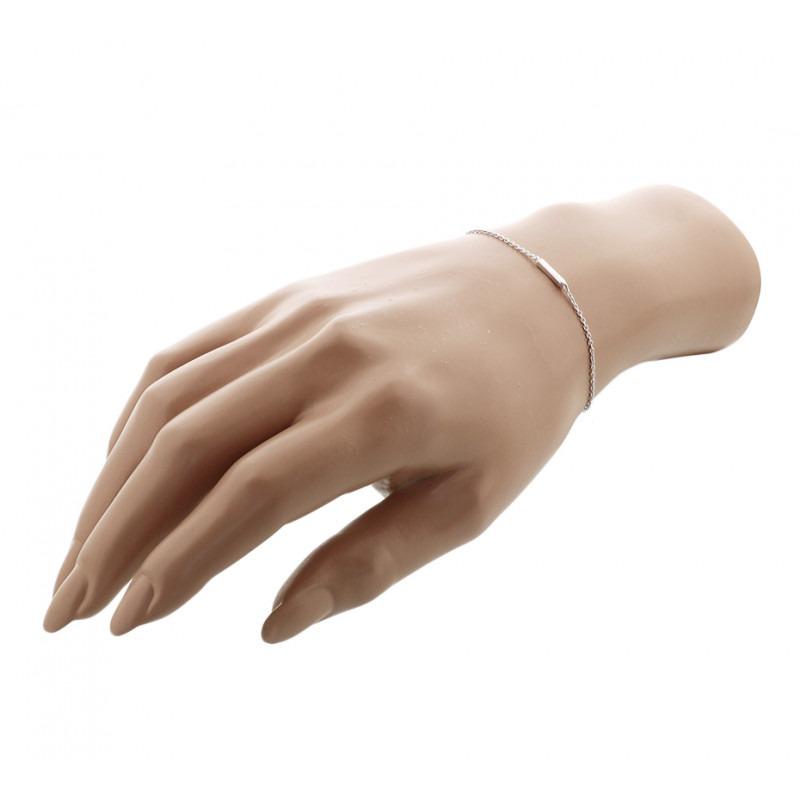 Dames armbandje met zilveren balkje