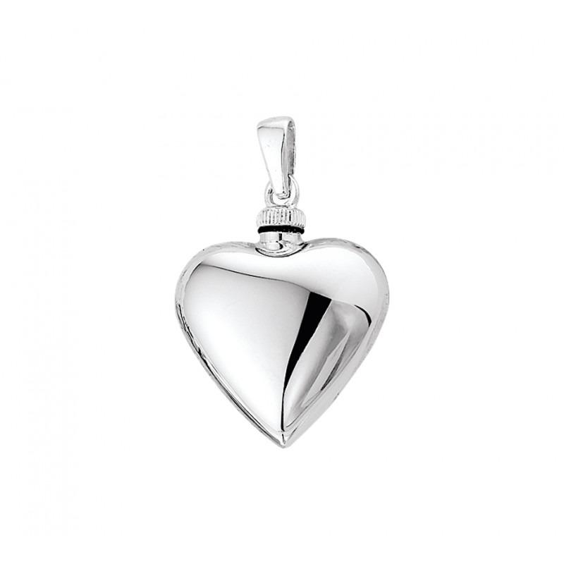 Hartvormige as hanger van zilver