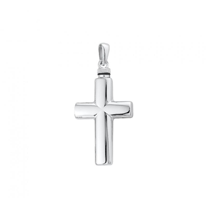 Kruisje ashanger van zilver