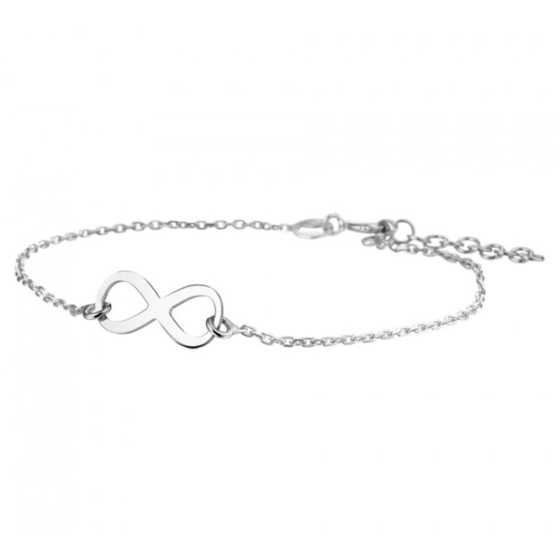 Mooie zilveren infinity armband 19,5 cm