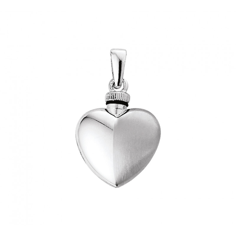Urnhanger zilveren hart mat en glans