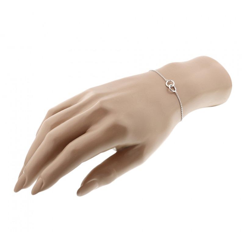 Zilveren armbandje met oneindigheidsteken