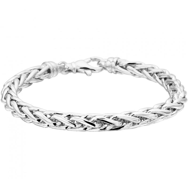 Zilveren dames schakelarmband 6 mm breed