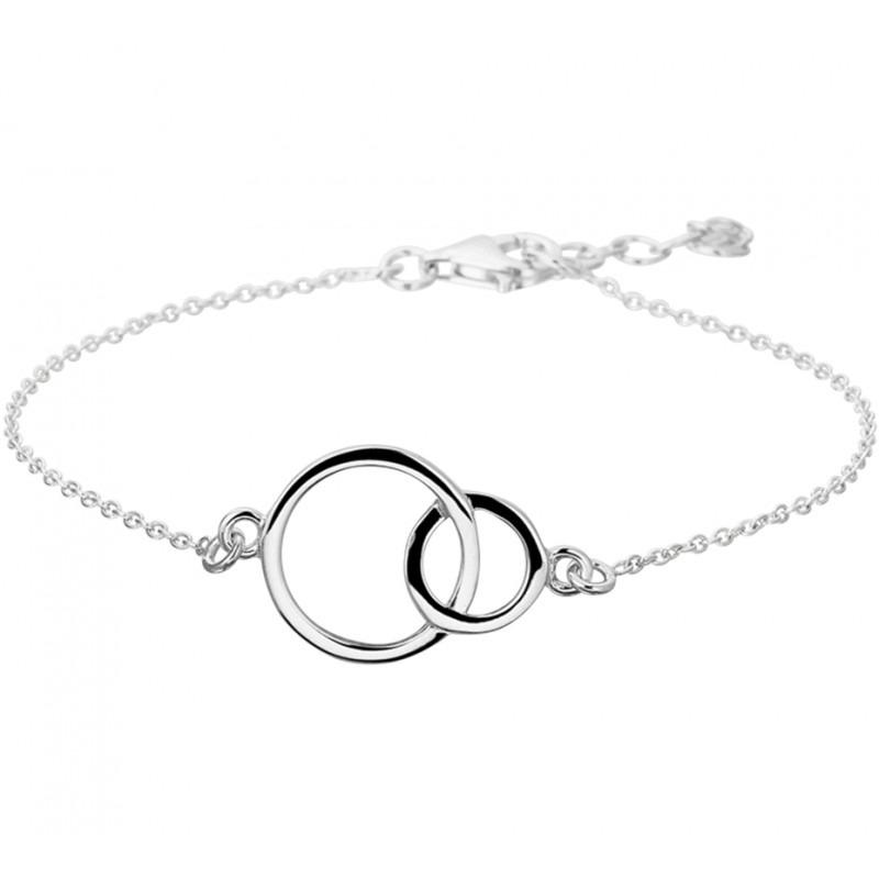 Zilveren damesarmbandje met ronde bedel