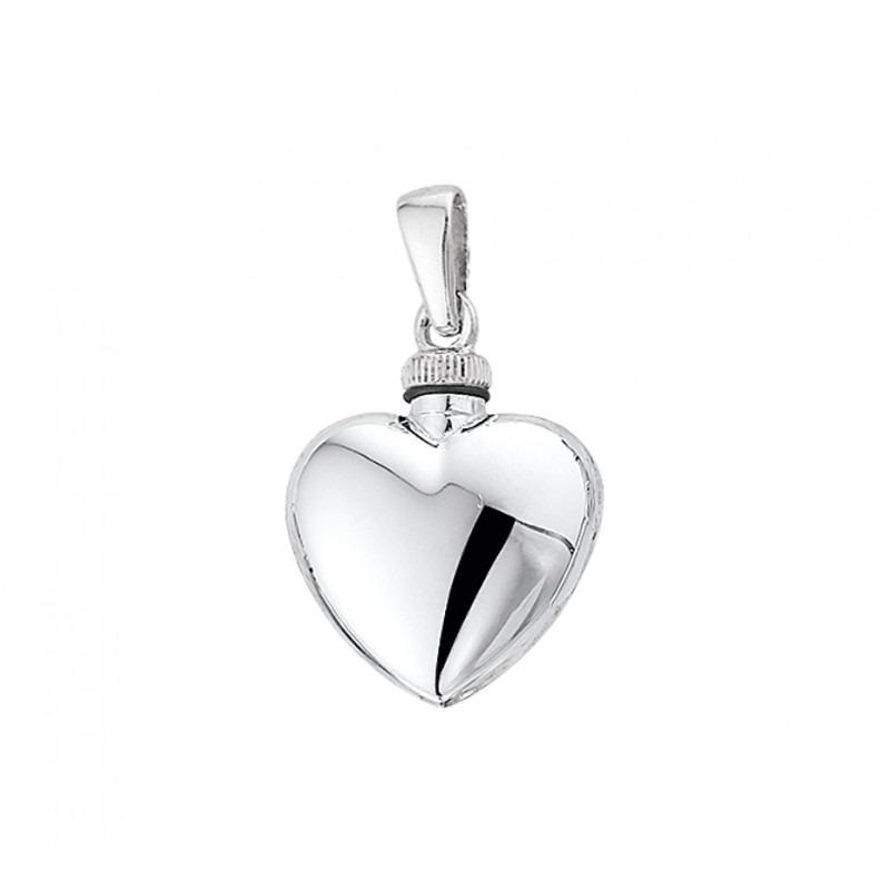 Zilveren hart urnhanger