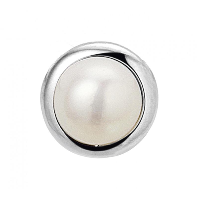 Zilveren parel hanger