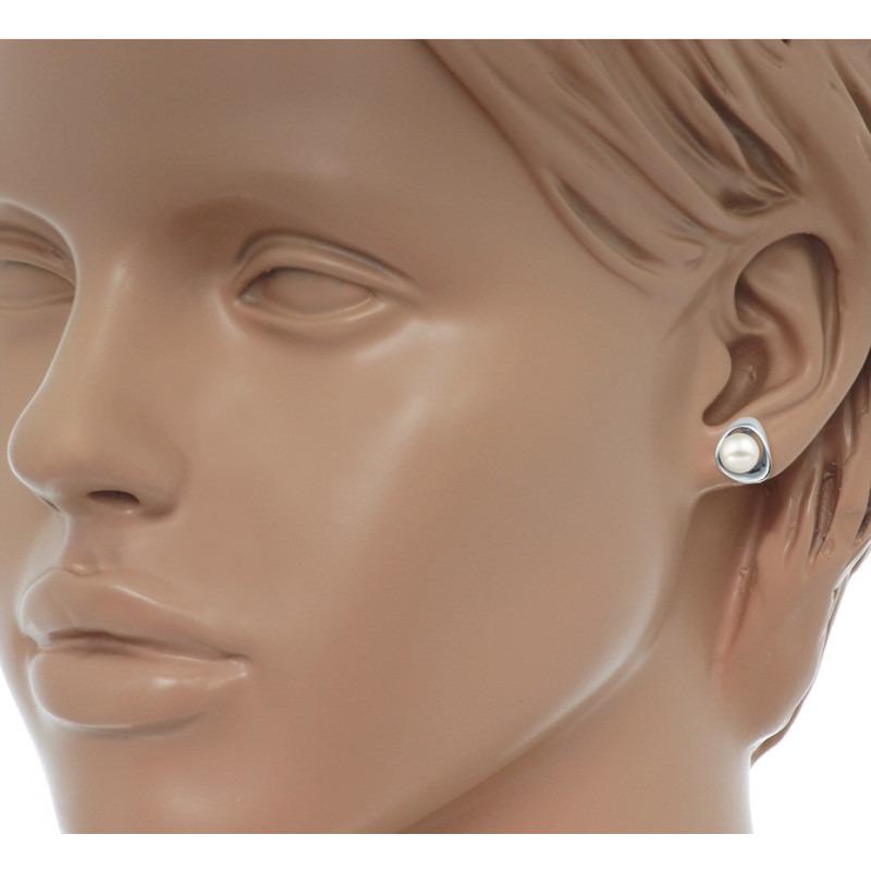 Zilveren parel oorknoppen 7 mm
