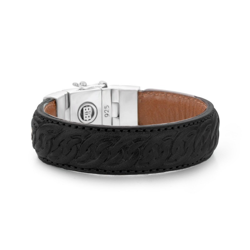 Buddha to Buddha 829BL Armband Nathalie Leather Black