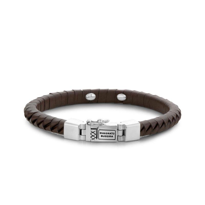Buddha to Buddha 162BR Armband Komang Small Leather Brown