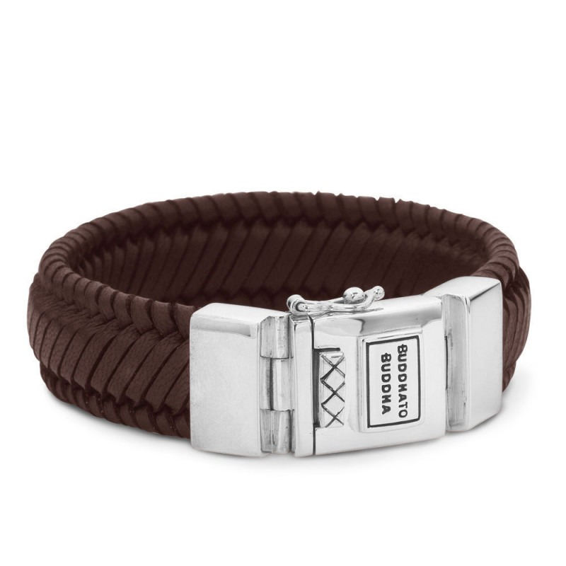 Buddha to Buddha 783BR Armband Edwin Leather Brown