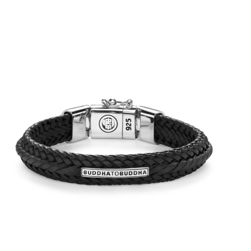 Buddha to Buddha 816BL Armband Nurul Small Leather Black