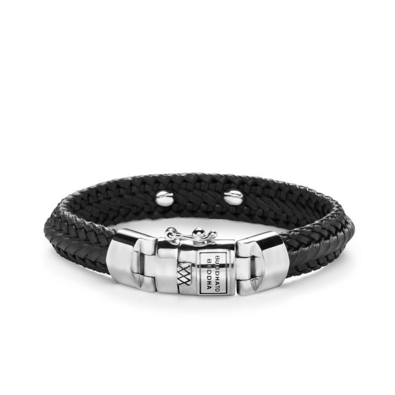 Buddha to Buddha 816BL Armband Nurul Small Leather Black