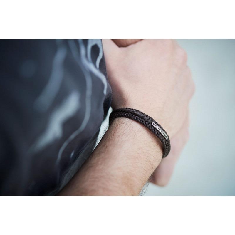 Buddha to Buddha 816BR Armband Nurul Small Leather Brown