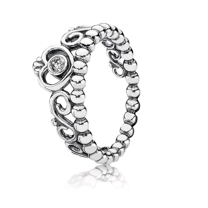 Pandora ring met prinsessenkroontje 190880cz