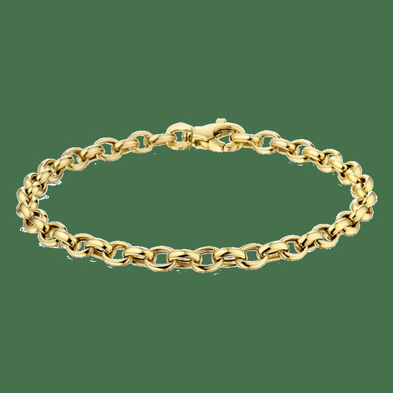 Gouden bedelarmband 14-karaat