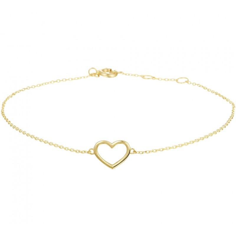 Armband goud met hartje