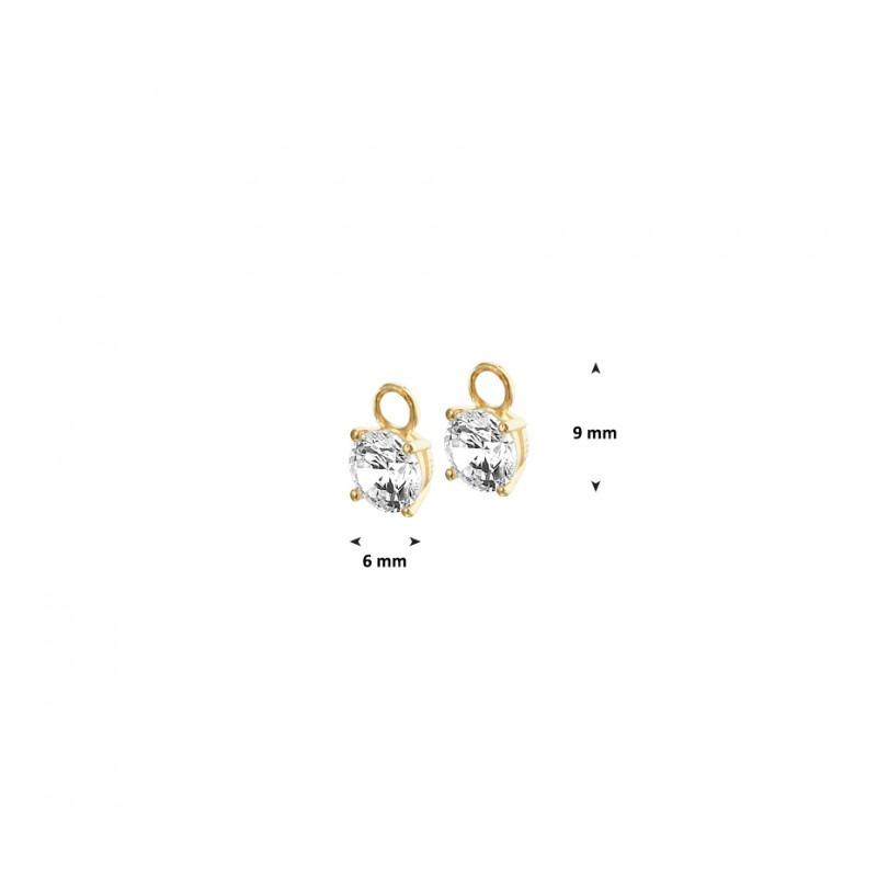 Creoolhangers van goud met zirkonias