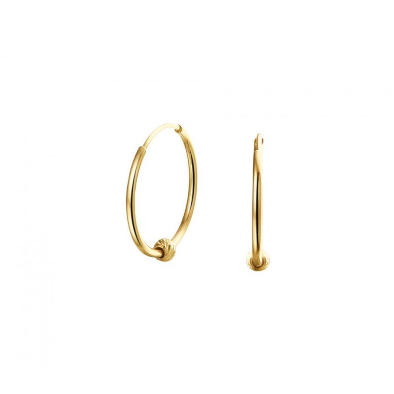 Gouden creolen met hanger van het beste goud