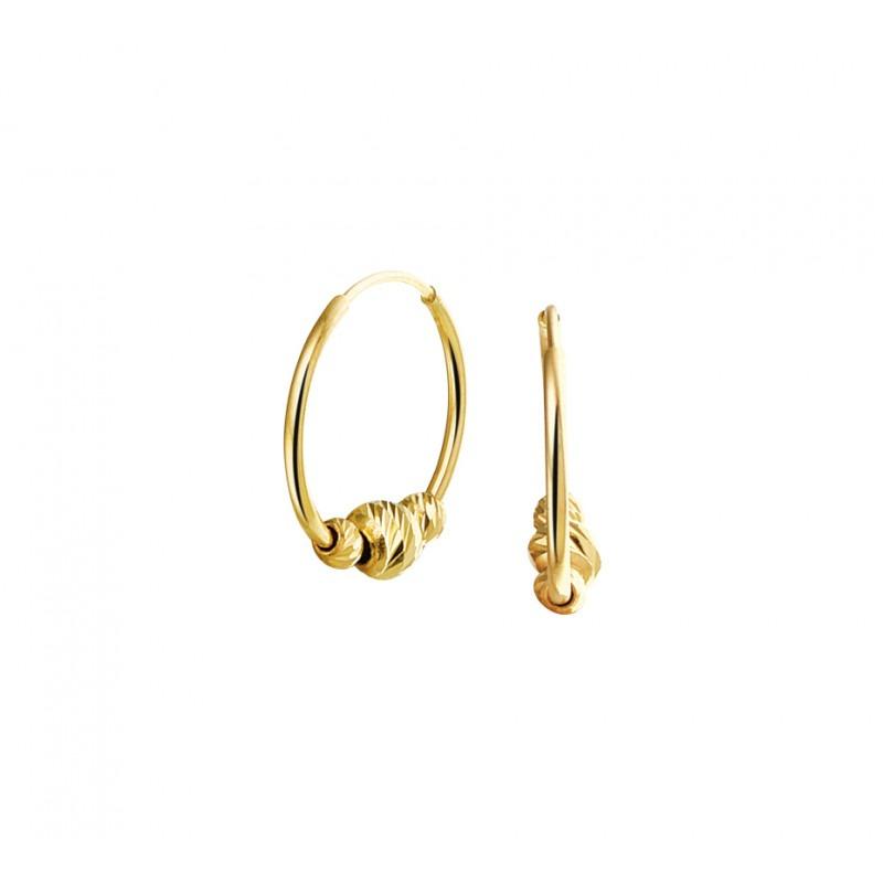 Gouden creolen met hanger
