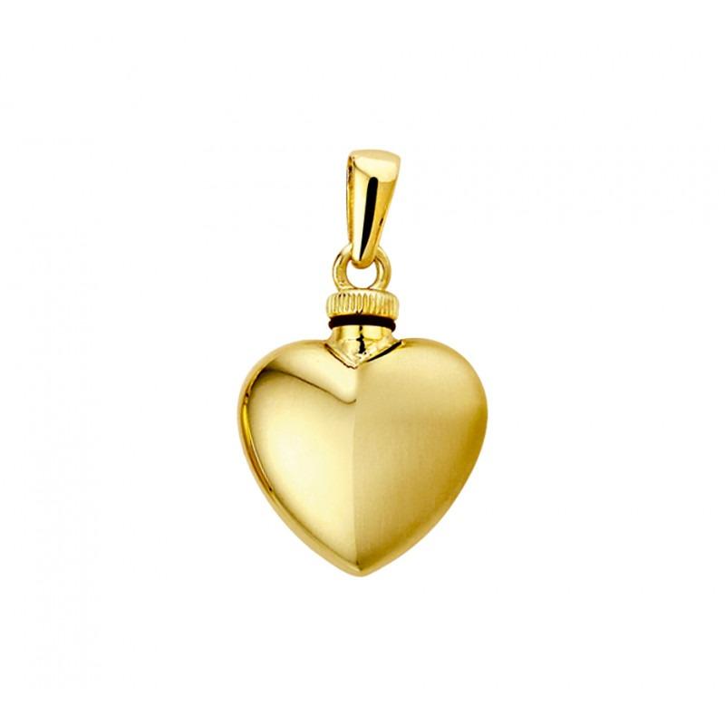 Gouden hart ashanger mat en glans