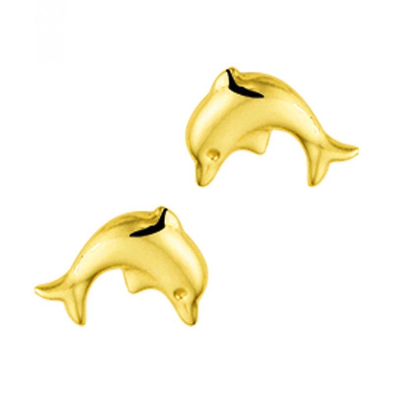 Gouden oorknopjes dolfijn
